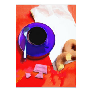 Coffee, Donuts and Low Cal Sweetener Card