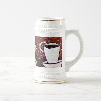 coffee dots stein 18 oz beer stein