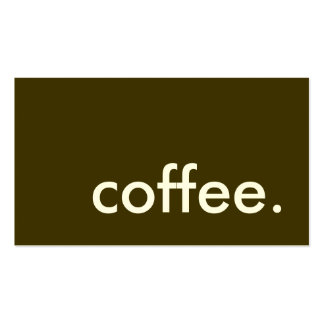 coffee. Double-Sided standard business cards (Pack of 100)