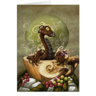 COFFEE DRAGON GREETING CARD