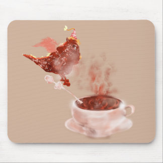 Coffee dragon mouse pad