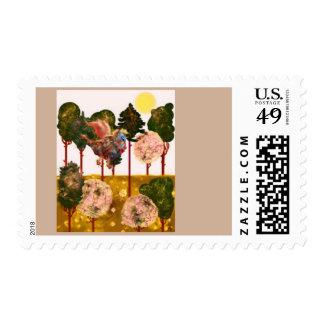 Coffee dragon stamp