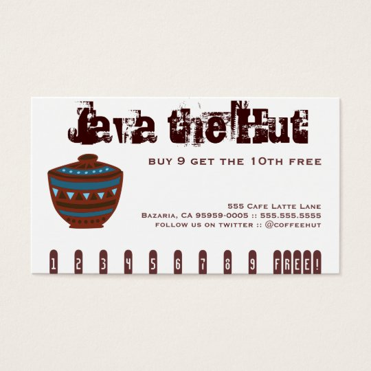 Coffee Drink Punch Card