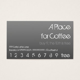 Coffee Drink Punch Hero Business Card