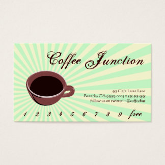 Coffee Drink Punch / Loyalty Card