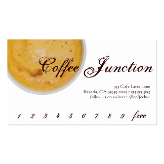 Coffee Drink Punch / Loyalty Card Business Card Template
