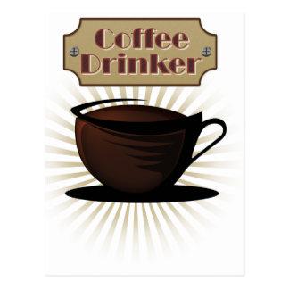 Coffee Drinker Postcard