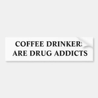 Coffee Drinkers Car Bumper Sticker