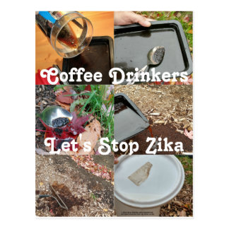 Coffee Drinkers Can Stop Zika by RoseWrites Postcard