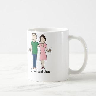 Coffee drinking couple coffee mug