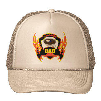 Coffee Drinking Dad Fathers Day Gifts Mesh Hat