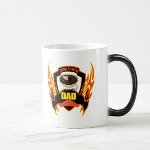 Coffee Drinking Dad Fathers Day Gifts 11 Oz Magic Heat Color-Changing Coffee Mug
