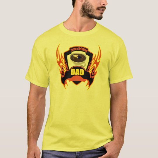 Coffee Drinking Dad Fathers Day Gifts T-Shirt