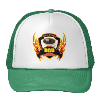 Coffee Drinking Dad Fathers Day Gifts Trucker Hat