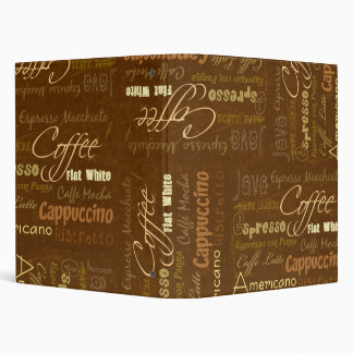 Coffee Drinks 3 Ring Binders