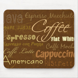 Coffee Drinks Mousepad
