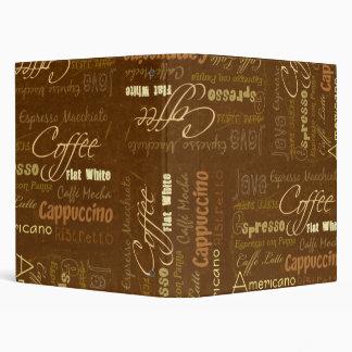 Coffee Drinks Vinyl Binder