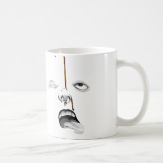coffee drips classic white coffee mug
