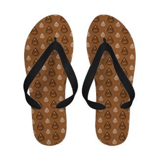 Coffee Drops Pattern Sandals