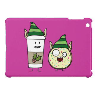 Coffee Elf  and Crazy Donut Elf Cover For The iPad Mini