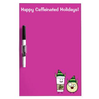 Coffee Elf and Crazy Donut Elf Dry-Erase Whiteboards