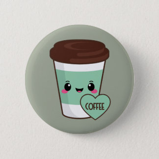 Coffee Emoji Lover Pinback Button