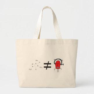 coffee equals no red faced headache canvas bag