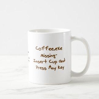 Coffee.exe missing, geek and computer humour mug