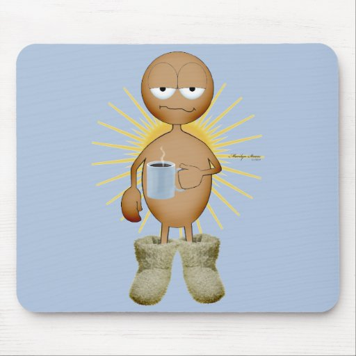 Coffee first - brown skin mouse pad
