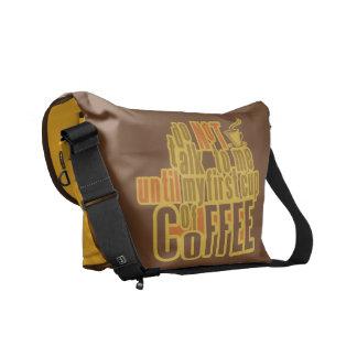 COFFEE FIRST custom messenger bag