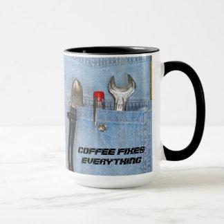 Coffee fixes everything mug