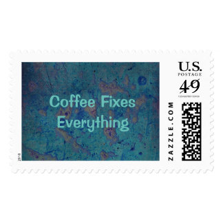 Coffee Fixes Everything Postage Stamp