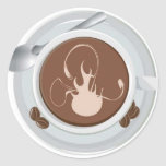 Coffee Flame Sticker