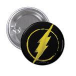 Coffee Flash Symbol - Yellow 1 Inch Round Button