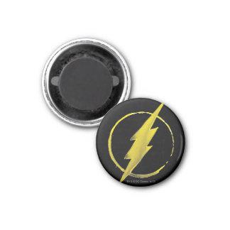 Coffee Flash Symbol - Yellow 1 Inch Round Magnet