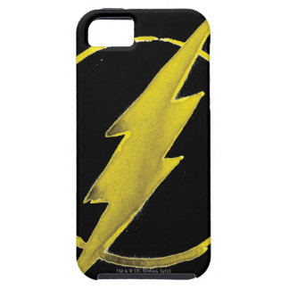 Coffee Flash Symbol - Yellow iPhone 5 Covers