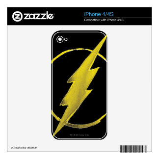 Coffee Flash Symbol - Yellow Decal For iPhone 4
