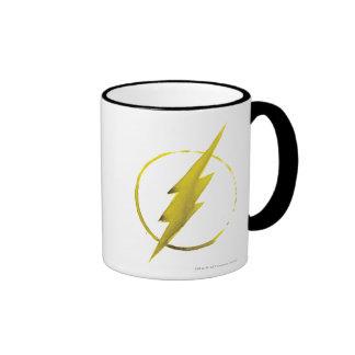 Coffee Flash Symbol - Yellow Ringer Mug