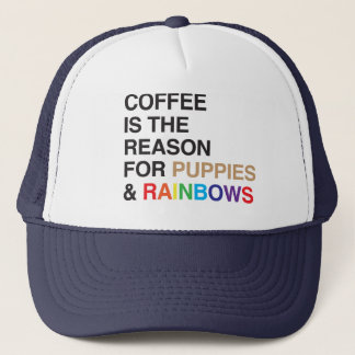 Coffee Flavoured Rainbow Trucker Hat