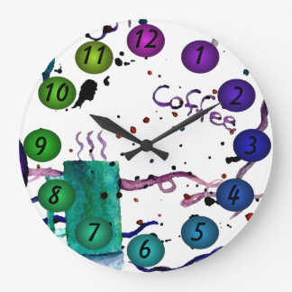Coffee Floating 3D Colors Design Wall Clock 30k