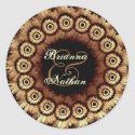 COFFEE Flower Petal Wedding Wreath sticker