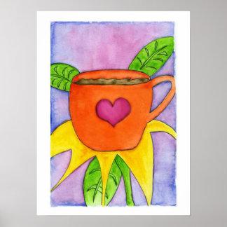 Coffee Flower Print