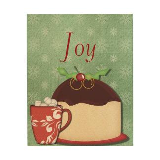 Coffee, Food and Christmas Joy Wood Wall Art
