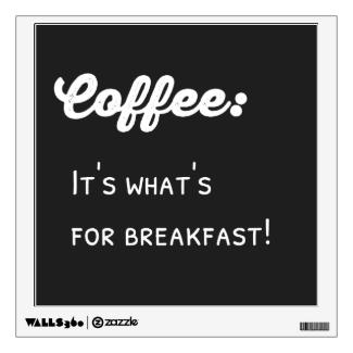 Coffee For Breakfast Chalkboard Typography