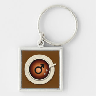 coffee for men keychain