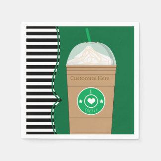 Coffee Frap Modern Chic Cute Birthday Party Paper Napkin