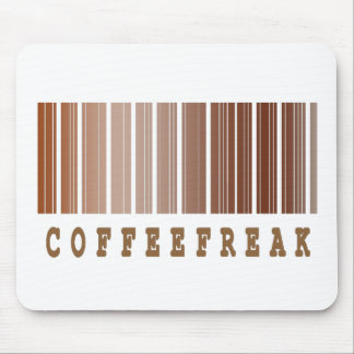 coffee freak barcode design mouse pad