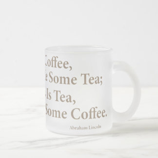 Coffee? Frosted 10 oz Frosted Glass Mug