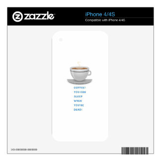 Coffee funny text iPhone 4 decal