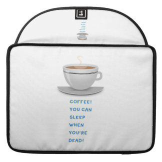 Coffee funny text sleeves for MacBook pro